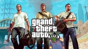 De gauche à droite, Trevor, Franklin et Michael, les « héros » du jeu GTA V.